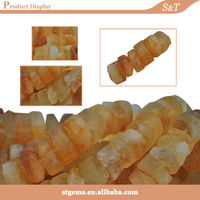 China gemstone supplier wholesale strand bead rough yellow opal
