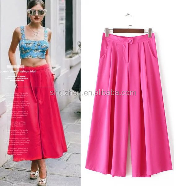 Fashion skirt pants for women girls long skirt chiffon pants ladies summer cool pants