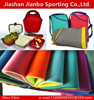 High quality factory neoprene fabric rubber for lunch bag