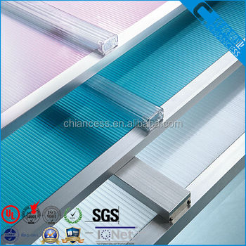 U Lock System Polycarbonate waterproof sunlight pc Sheets daylighting
