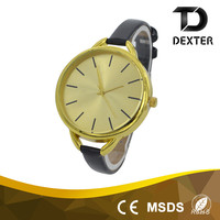 China wholesale OEM ladies 13mm Wide PU leather watch band quartz hand watch