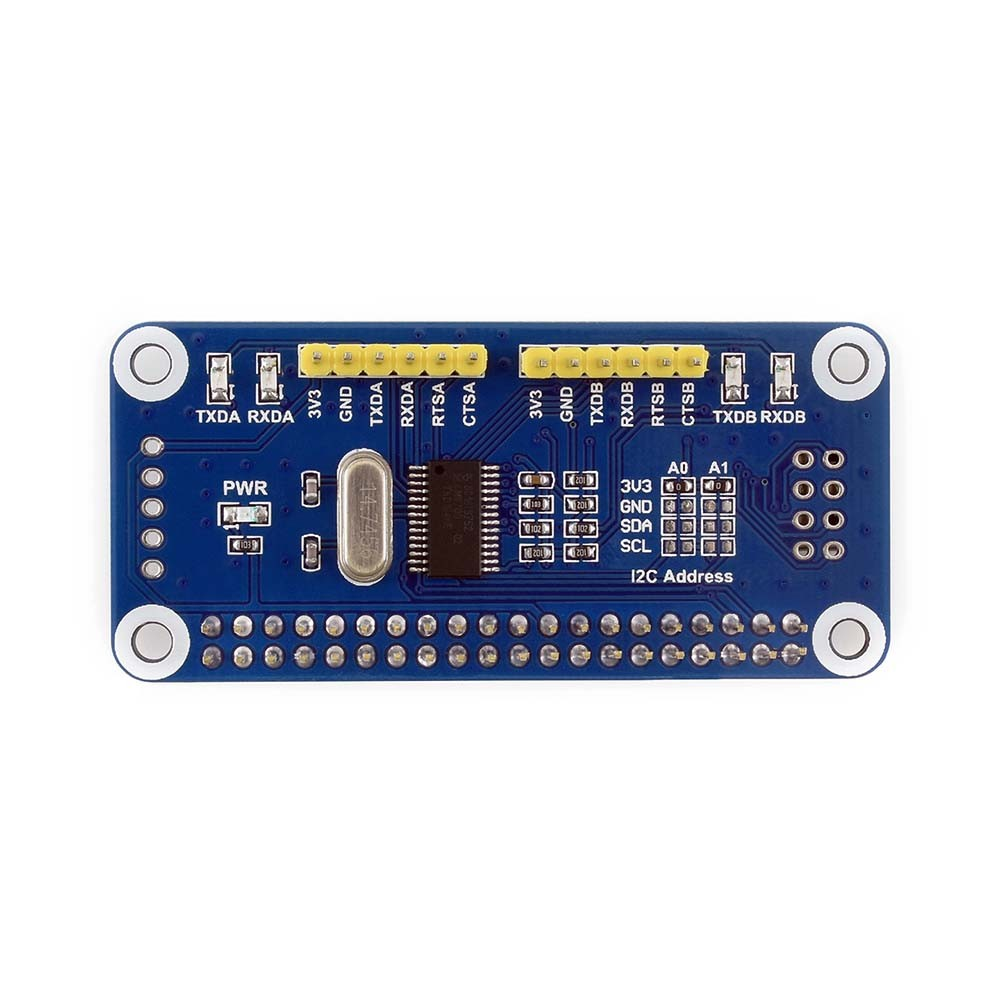 Waveshare Serial Expansion HAT for Raspberry Pi, I2C Interface, <strong>Provides</strong> 2-ch UART and 8 GPIOs