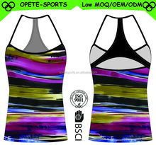 (OEM/ODM Factory)New Woman Stretch tank top/ Yoga Gym Running Sports tank top