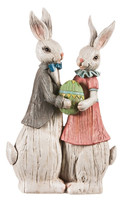 Easter Traditions His and Her Rabbit Statue