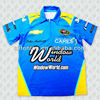 100% polyester custom sublimated blue motorcycle racing shirt