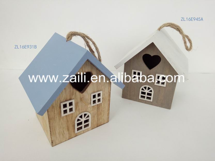 Home decoration Wood craft gift MDF 15.5*12.5*17cm decorative cage and aviary for bird