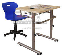 New Design Plastic Chair School Furniture Assemble Study Student Table and Chair Set
