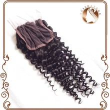 cheap brazilian virgin silk base lace closure hair pieces