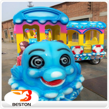 Look! cheap! Attractive kids electric amusement park trains rides for sale with music/LED lights