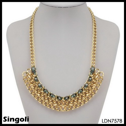 HOUSTON CHAIN NECKLACE gold chain hot fashion jewelry 2014 wholesale Alibaba in China