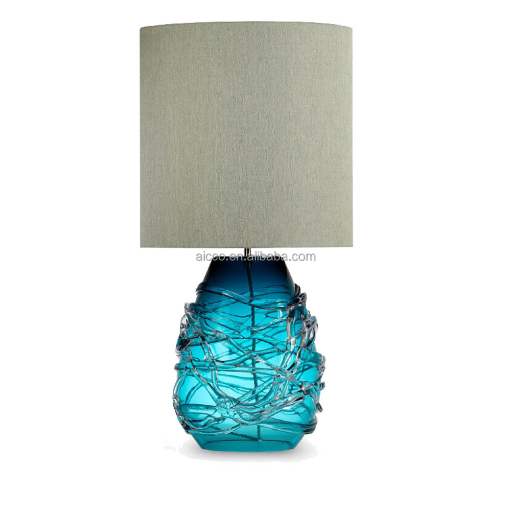 Flower Pot Decorative LED Lighting Handmade Glass Table Lamp For Hotel Project