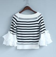 zm36215a new design knit shirt fashion latest one shoulder tops