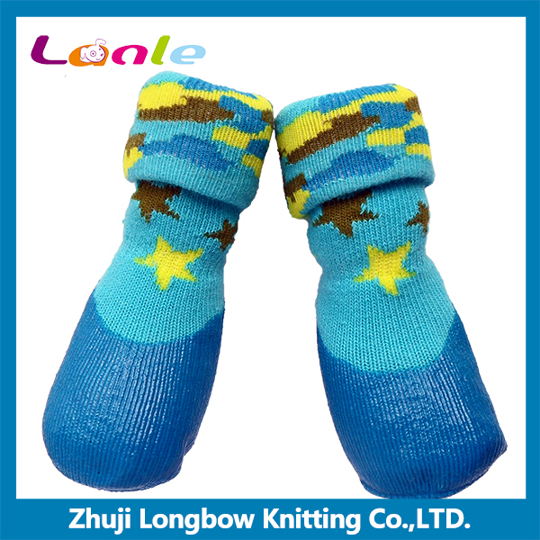 Eco-friendly new design outdoor waterproof pet shoe socks for dogs cats
