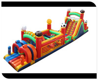 china inflatable bouncer obstacle course/ high quality inflatable for adult and kids
