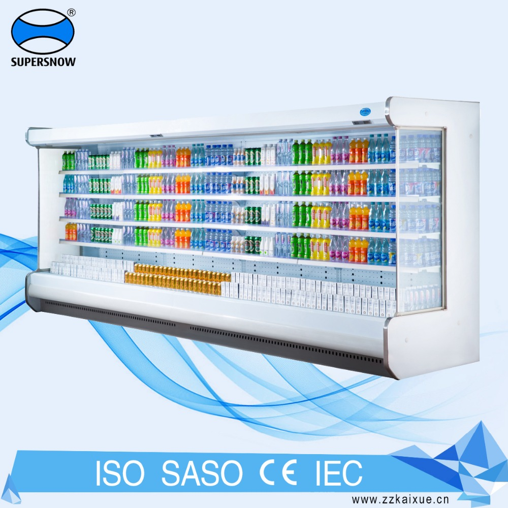 multi-deck supermarket wall mounted refrigerator