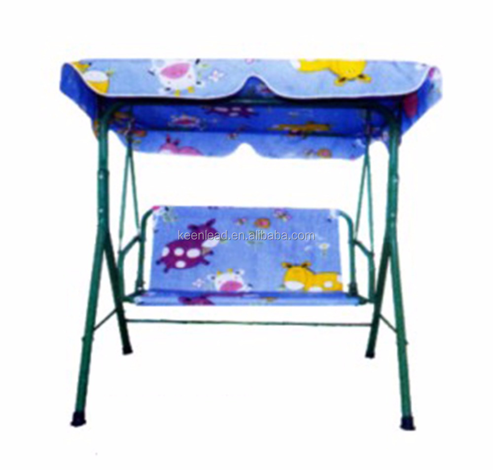 Fashion Lovely Kids 3 seater patio garden swing chair with canopy for outdoor