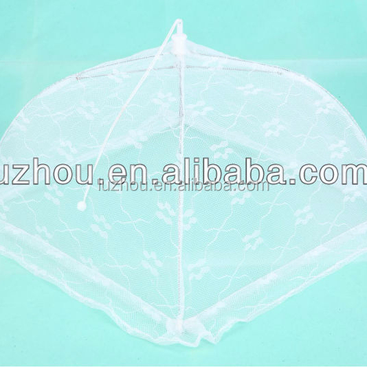folding polyester mesh food cover,dish cover food umbrellas