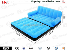 Top quality new brand blue promotional inflatable bed sofa