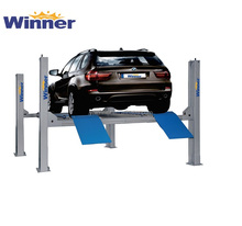 4DT3500B Wheel Alignment Durable Used 4 Post Car Lift for Sale