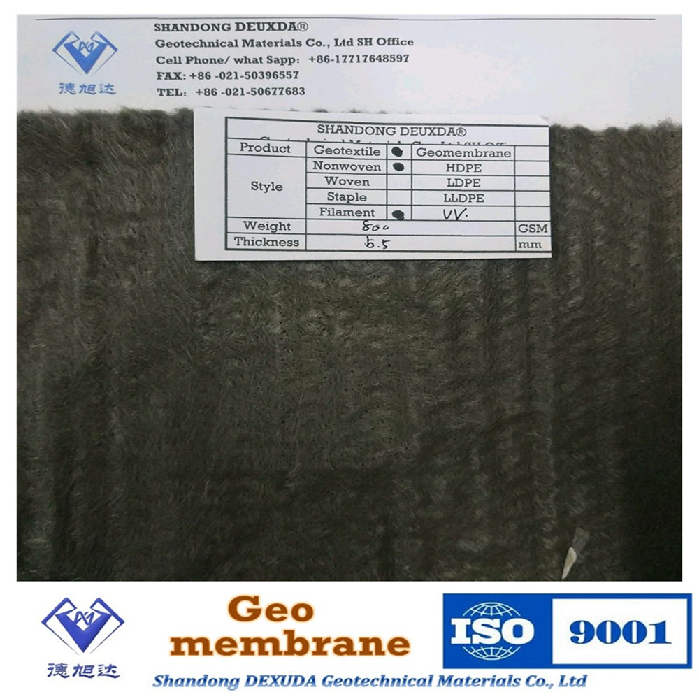 filament needles punched geotextile price per m2