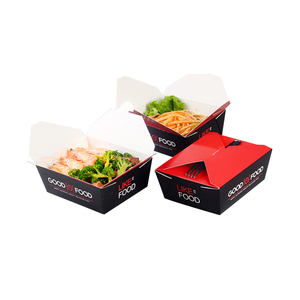 OTOR factory wholesale custom printing disposable paperboard fried chicken bento lunch box