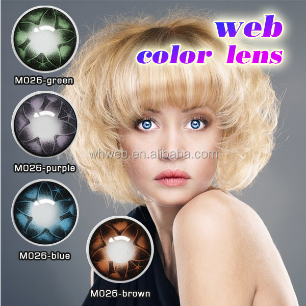 Cosmetic Charming Fashion Soft Color Contact Lenses Big Eyes Two Tones Contact Lens