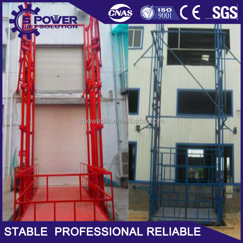 Chinese supplier of small material lift fixed cargo lift