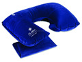 flocked neck pillow with 1 color logo printing