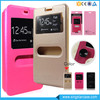 Wholesale Phone Acessory Double Window Leather Flip Cover Case For ITEL 6900
