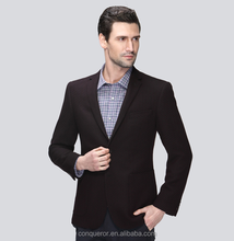 smooth feel Lattice pattern 100% wool men chinese suit