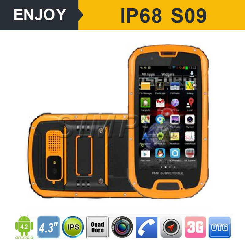 IP68 3G Android smart phone quad core android GPS PTT. NFC optional