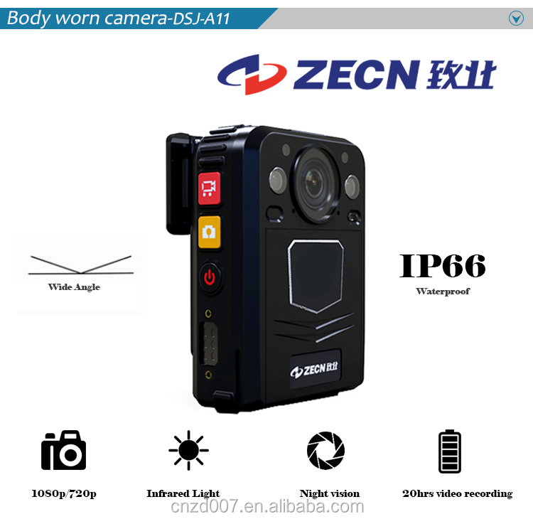 1080P hd wide angle long time recording portable security video body worn camera with low price