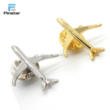 Hot selling custom high quality 3d design airplane shaped metal enamel lapel pin