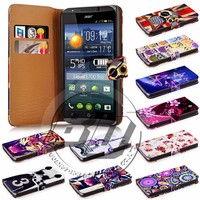 For Acer Liquid E700 case, mobile phone book style wallet printed PU leather flip cover case for Acer Liquid E700