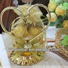 Top grade gold or silver swan wedding candy gift wholesale