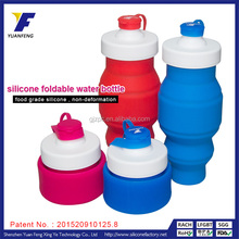 Flexible Heat-resistant Silicone Collapsible Sport Enhancer Water Bottle