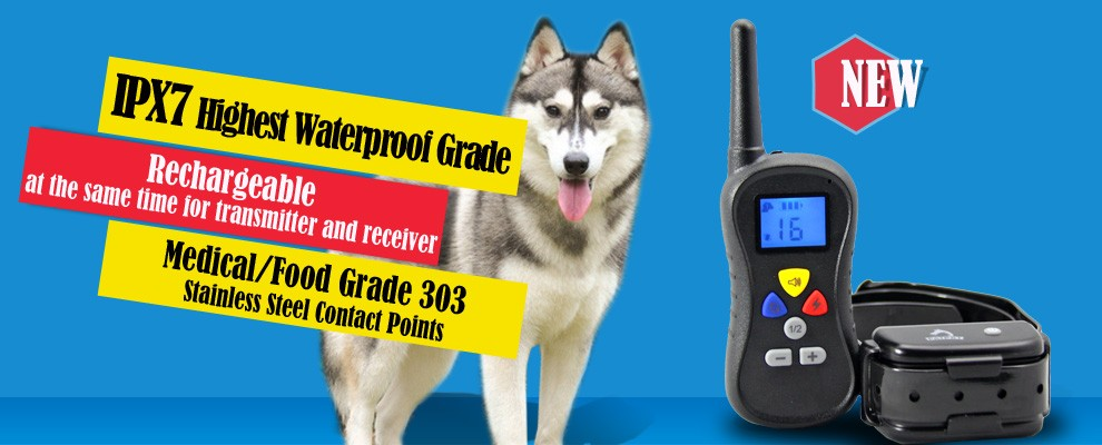 2016 Amazon Top Electronic Pet Dog Shock Vibrate Beep Collar Remote Dog Training Collar