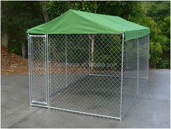 4.0 x2.3 x 1.8m Pet Dog Enclosure Run Kennel Chain Link Fence FULL Enclosed Roof