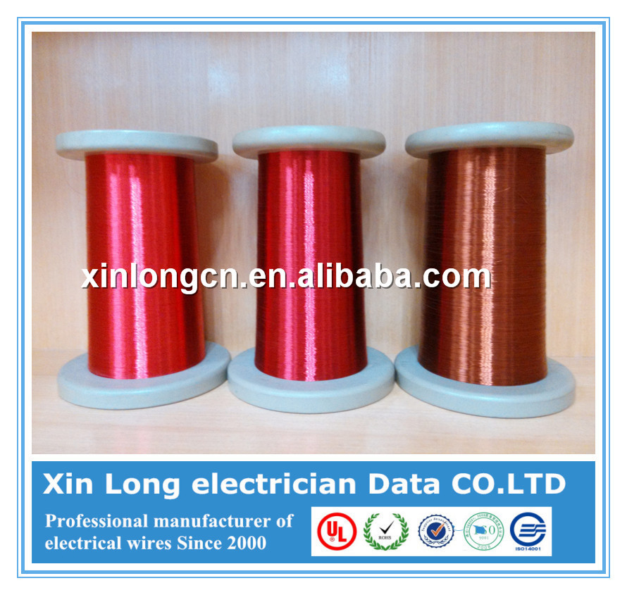 High temperature 1.0mm awg round polyimide enamel coated copper wire
