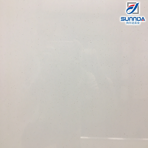 600x600 double loading white quartz crystal powder polished porcelain floor tiles made in China