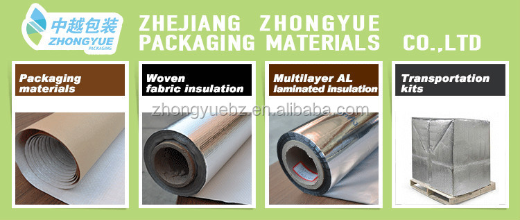 fire-proof radiant barrier insulation material for roof/wall