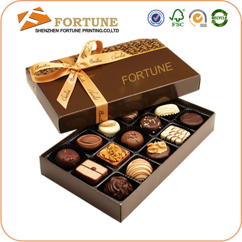 2016 New Luxury Paper Gift Carboard chocolate box