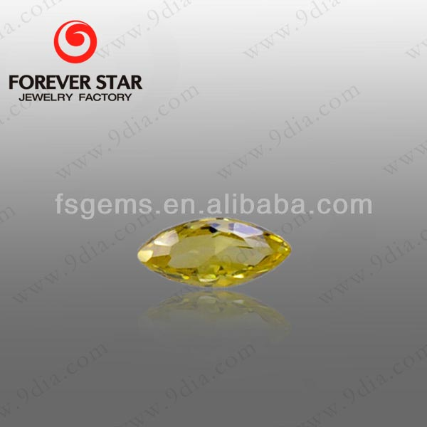 2GS01020A Marquise Shape 6*3mm Middle Golden Yellow Synthetic CZ Stone Cubic Zirconia