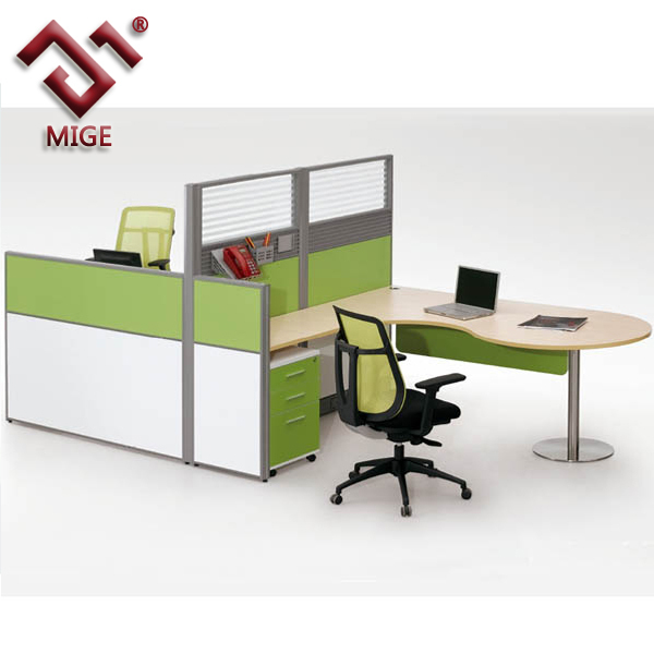 Modern office table with low partition board