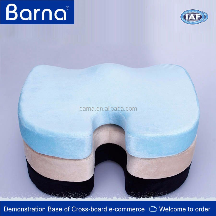 Coccyx Orthopedic Comfort Memory Foam U Shape Seat Cushion,Wooden Sofa/Office Chair Memory Foam Seat Cushion