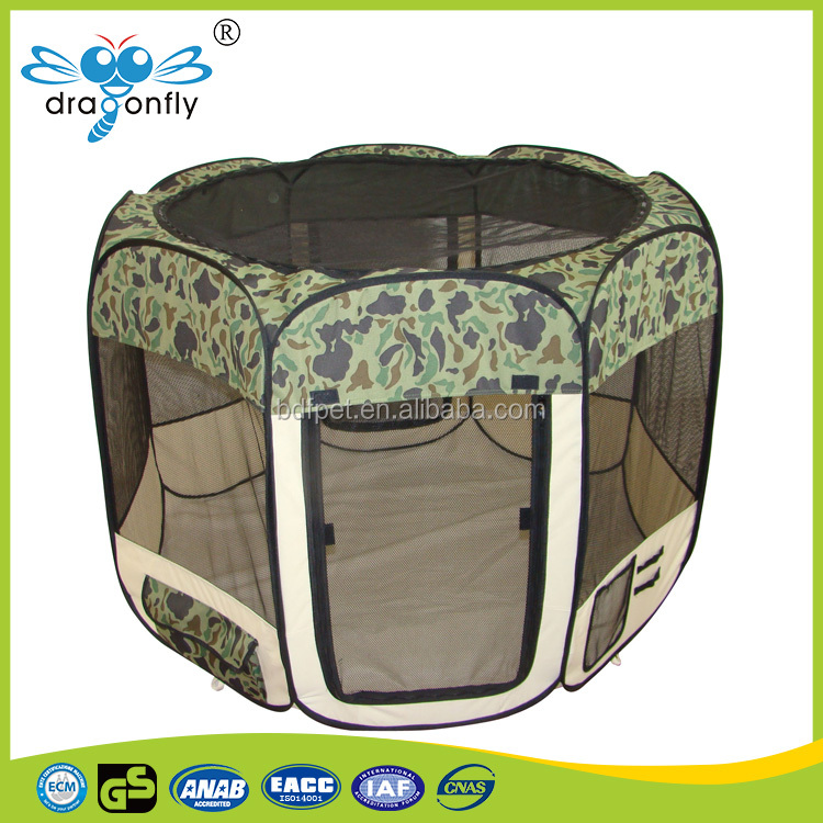 2017 China supplier high quality 600D Oxford pet soft crate / pet pen