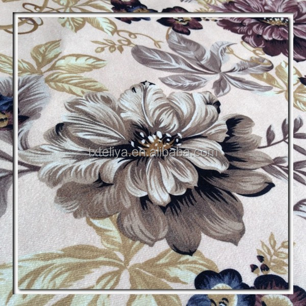 Printed fabric high quality flower printing
