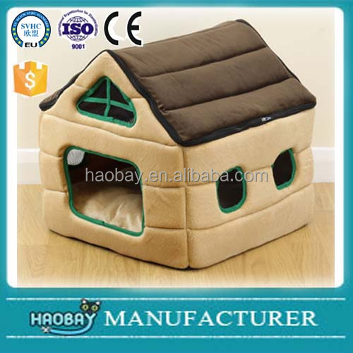 Soft Plush House Style Pet Bed Igloo Warm Cave For Cat/Kitten/Dog/Puppy