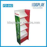 Cardboard free standing floor display paper stands for Panadol