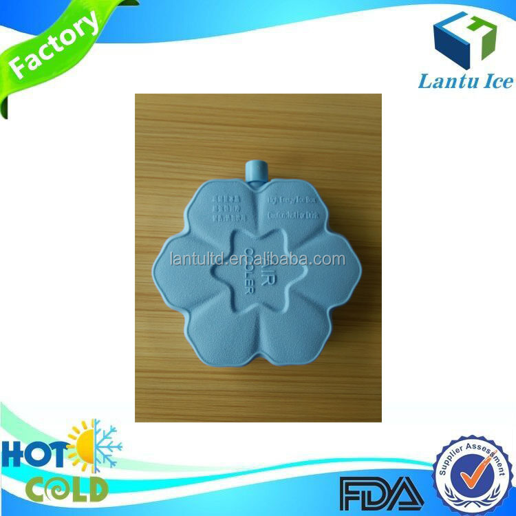 Reusable hard cold gel box for cooling fan